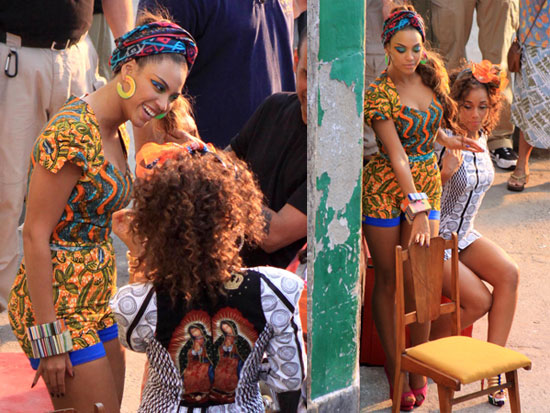 cf9eb29a39f Photos of Alicia Keys And Beyonce Knowles Filming Their Video For ...