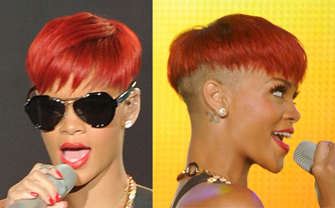 Pictures Of Rihannas New Red Hair