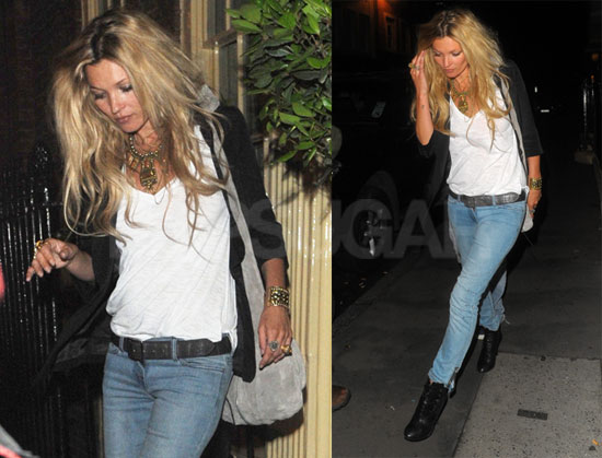 Pictures of Kate Moss Out in London With Big Hair ...