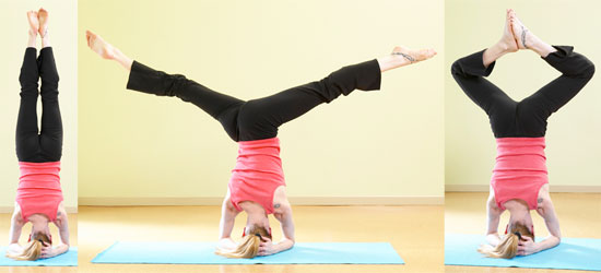 How To Do Headstand Variations Popsugar Fitness