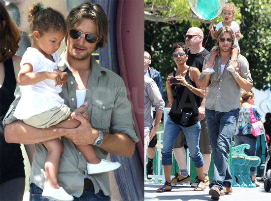 Pictures of Halle Berry, Gabriel and Nahla Aubry Visiting ...