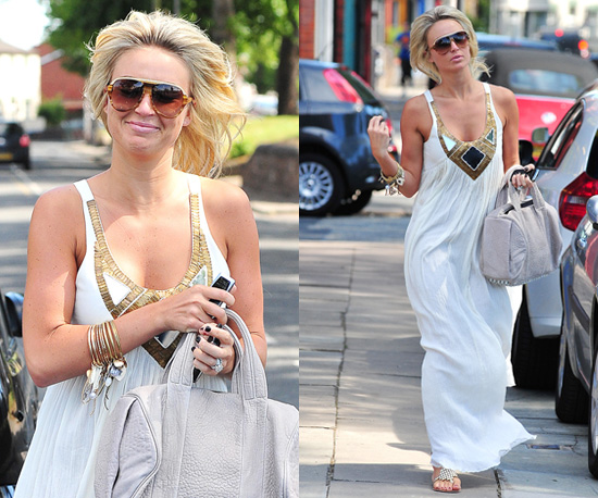 Photos Of Alex Curran In White Maxi Dress For First England Game