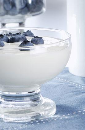 Encas minceur yaourt et baies