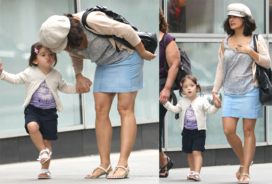 Pictures of Salma Hayek and Valentina Pinault in NYC ...
