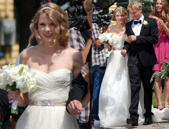 Pictures of Taylor Swift Filming Video in Wedding Dress | POPSUGAR ...