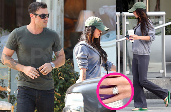 Pictures of Just Married Megan Fox and Brian Austin Green With Their