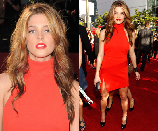 photos of ashley greene in red versace dress at 2010 espy. Black Bedroom Furniture Sets. Home Design Ideas