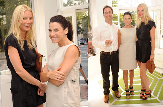 Gwyneth Paltrow Jessica Seinfeld And Jerry Seinfeld At A Baby Buggy Event In The Hamptons 2010