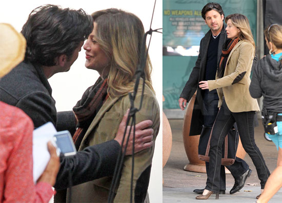 Pictures Of Patrick Dempsey And Ellen Pompeo On The Set Of Greys