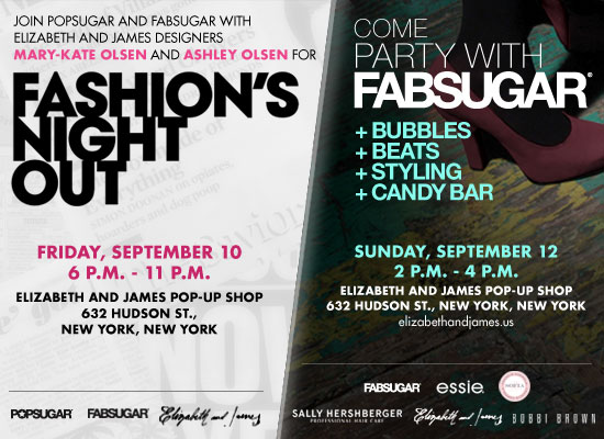 Fashions Night Out Party Invitation From FabSugar and PopSugar – New York Party Invitations