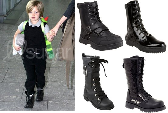 Picture of Shiloh Jolie-Pitt in Combat Boots | POPSUGAR Moms