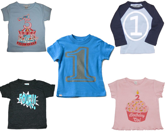 Clockwise From Top Left Liliputians Birthday Carousel Horse Shirt 35 HappyFamily Raglan 16 Psychobaby Cupcake Tee 26