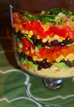 recipe for healthy seven layer salad popsugar fitness