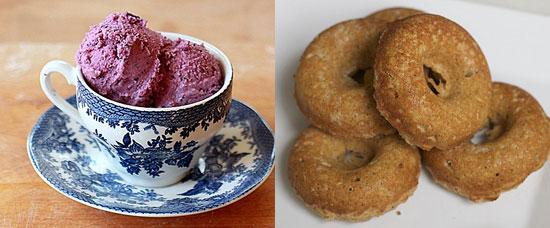 ice cream and doughnuts