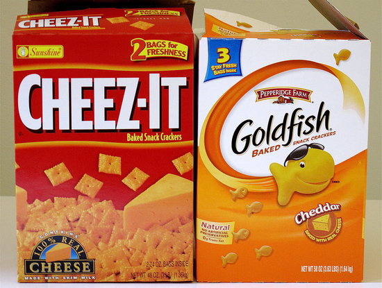 Cheez Its and Goldfish Crackers