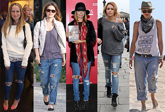 Celebrities in Ripped Jeans | POPSUGAR Fashion