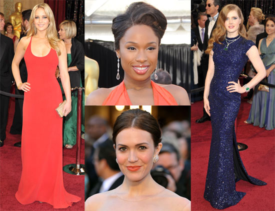 2011 Oscar Awards Red Carpet, Beauty, Fashion, And Press