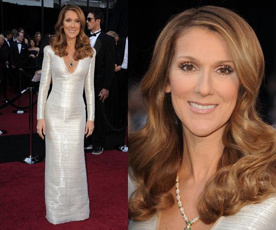 Celine Dion Oscars 2011 Popsugar Beauty