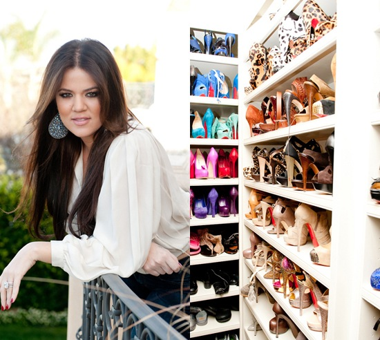 Khloe Kardashian Shows Off Her Shoe Collection To Elle Magazine