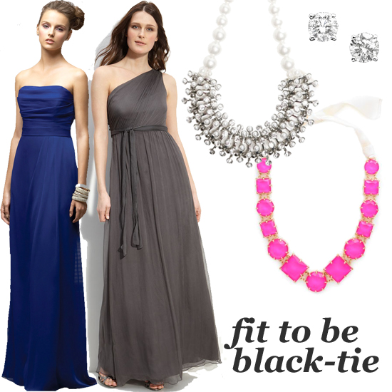 What should you wear on a black tie event?