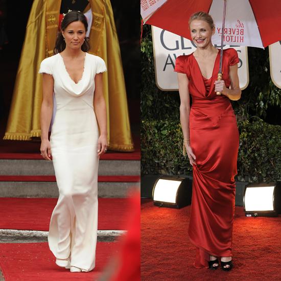 Pippa Middleton Wears Ivory Alexander McQueen Dress