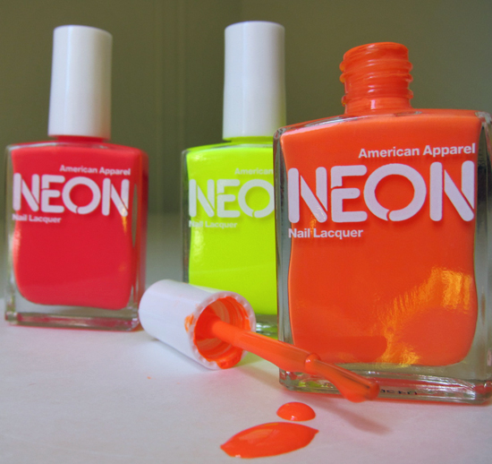 American Apparel Neon Nail Polish and Review | POPSUGAR Beauty