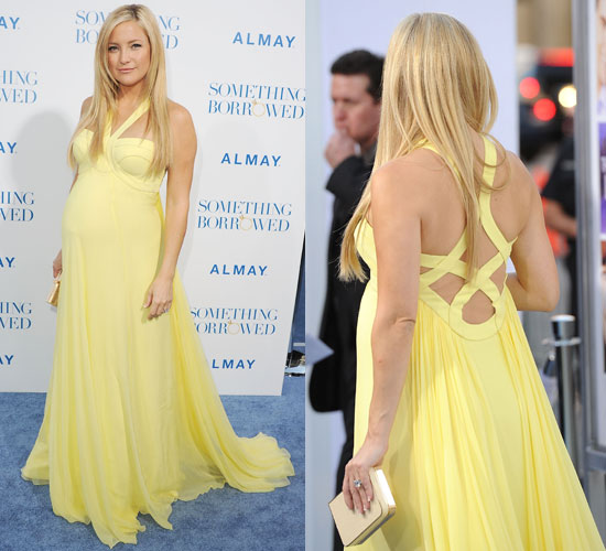 Robe jaune kate hudson