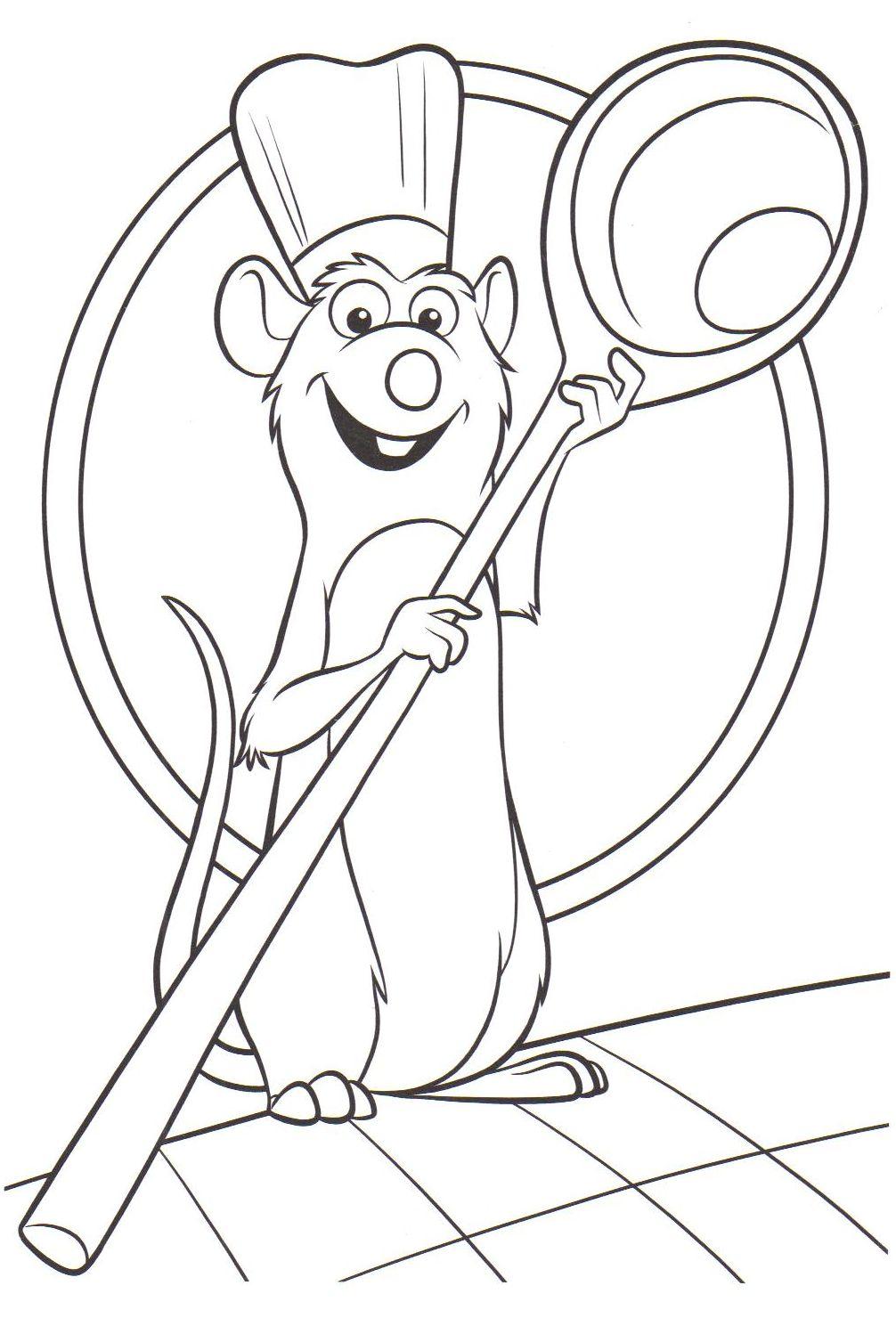 ratatouille coloring pictures