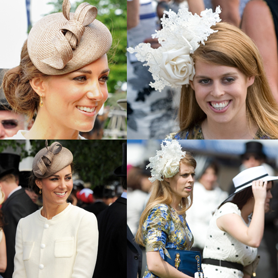 4b8a1a211a4 Kate Middleton and Princess Beatrice in Hats. Battle of the Fascinators   Catherine ...