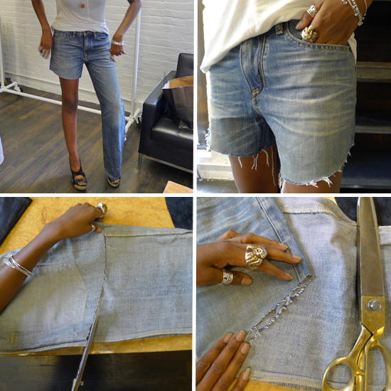 how to make cutoff shorts popsugar fashion