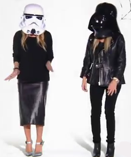 Mary-Kate Olsen and Ashley Olsen donned a series of Halloween headgear.