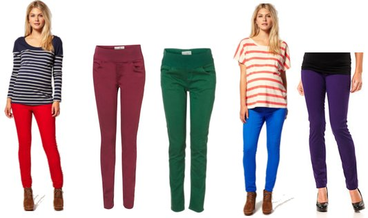 Colored Maternity Jeans | POPSUGAR Moms