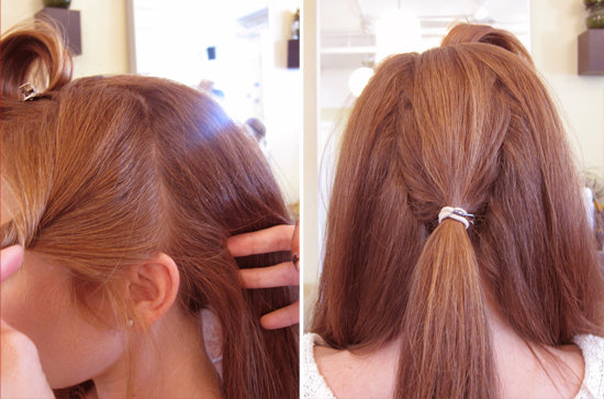 Vintage wedding updo hair tutorial popsugar beauty separate and anchor pmusecretfo Image collections