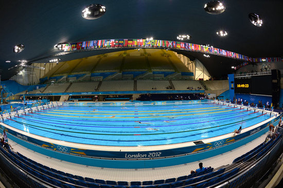 Fun facts about the 2012 olympic swimming pool popsugar tech for How deep is a olympic swimming pool