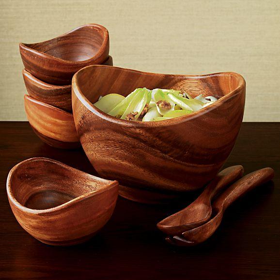 terrablack :: Decor :: Crate&Barrel Acacia Salad Bowls