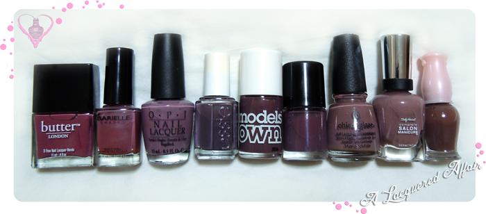 Models Own Purple Grey Comparisons