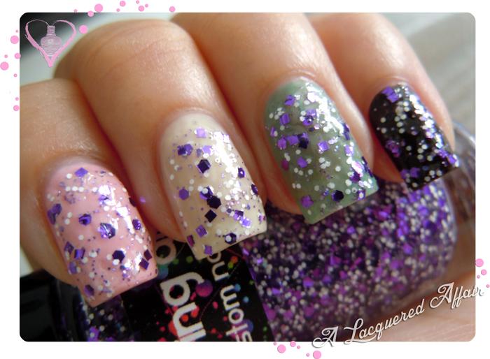 Daring Digit Punch Me Purple Over Pastel Jellies