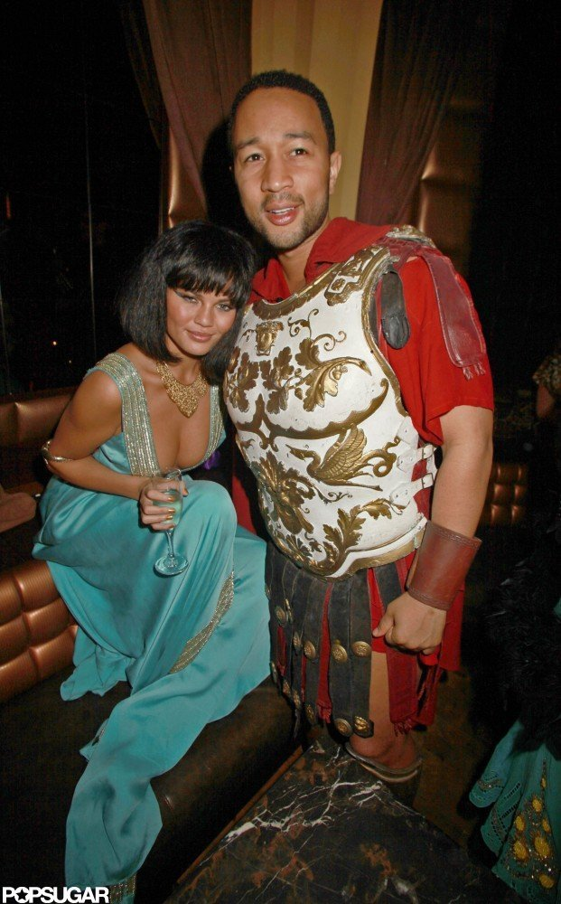 John Legend and Chrissy Teigen as Cleopatra and a Gladiator