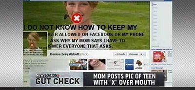 (PHOTO) Mom Punishes Teen's Attitude with Embarrassing Picture