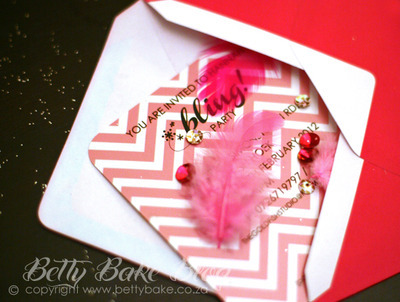 An 8th Birthday Party Invitation with Bling (PHOTO)