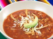 Easy Mexican Tortilla Soup with Roasted Chicken