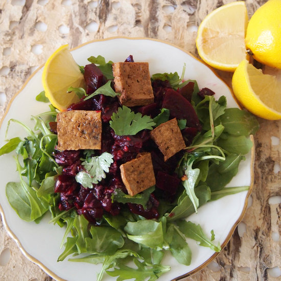 Spicy Beet and Chipotle Salad with Tofu