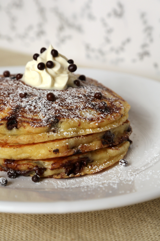 Chocolate Chip Pancake Recipe No Eggs