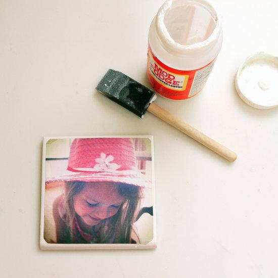 Diy tile photo coasters popsugar smart living solutioingenieria Choice Image