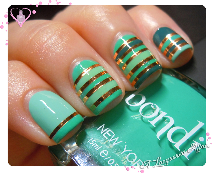 Bondi Polishes - Striped Mani