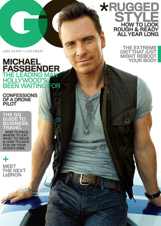 Michael Fassbender On The Cover Of GQ November 2013