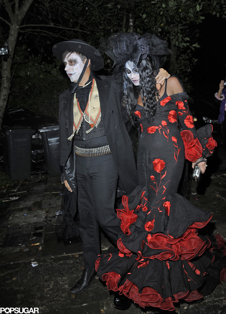 Kate Moss and Jamie Hince in Day of the Dead Costumes