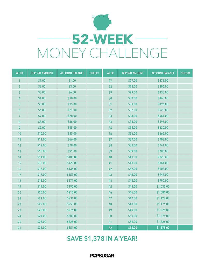 52-Week Money Challenge | POPSUGAR Career and Finance