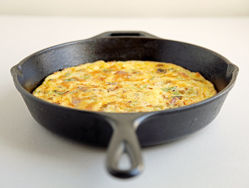 Cheddar, Bacon, and Leek Frittata | POPSUGAR Food