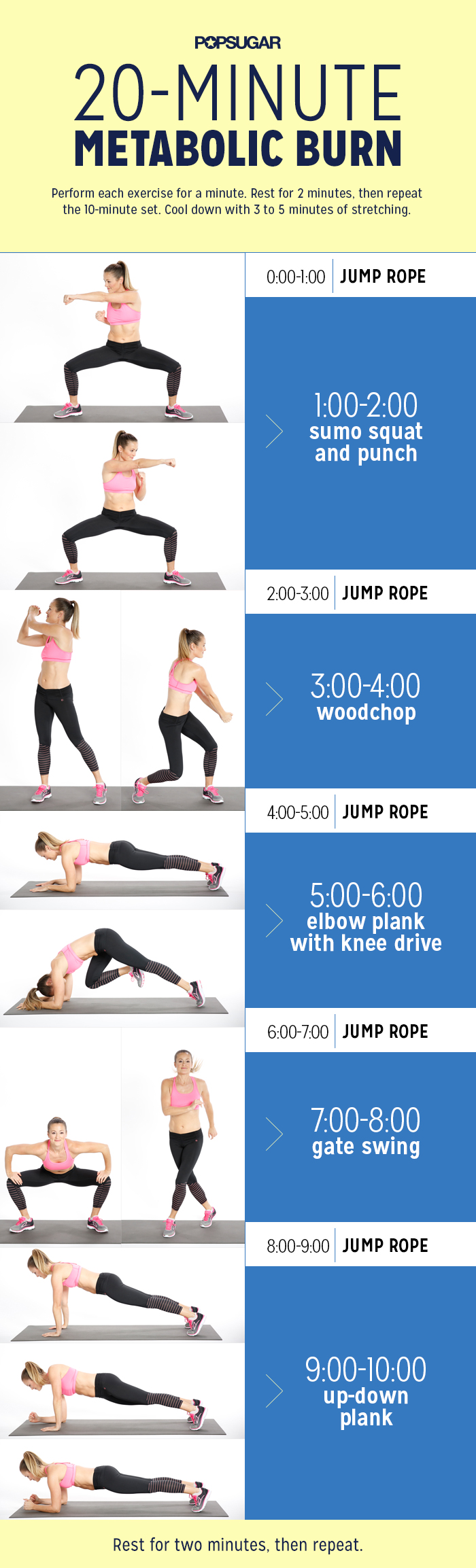 Jump Rope Workout With Strength Training Popsugar Fitness